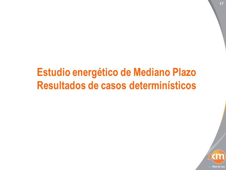 17 Estudio energético de Mediano Plazo Resultados de casos determinísticos