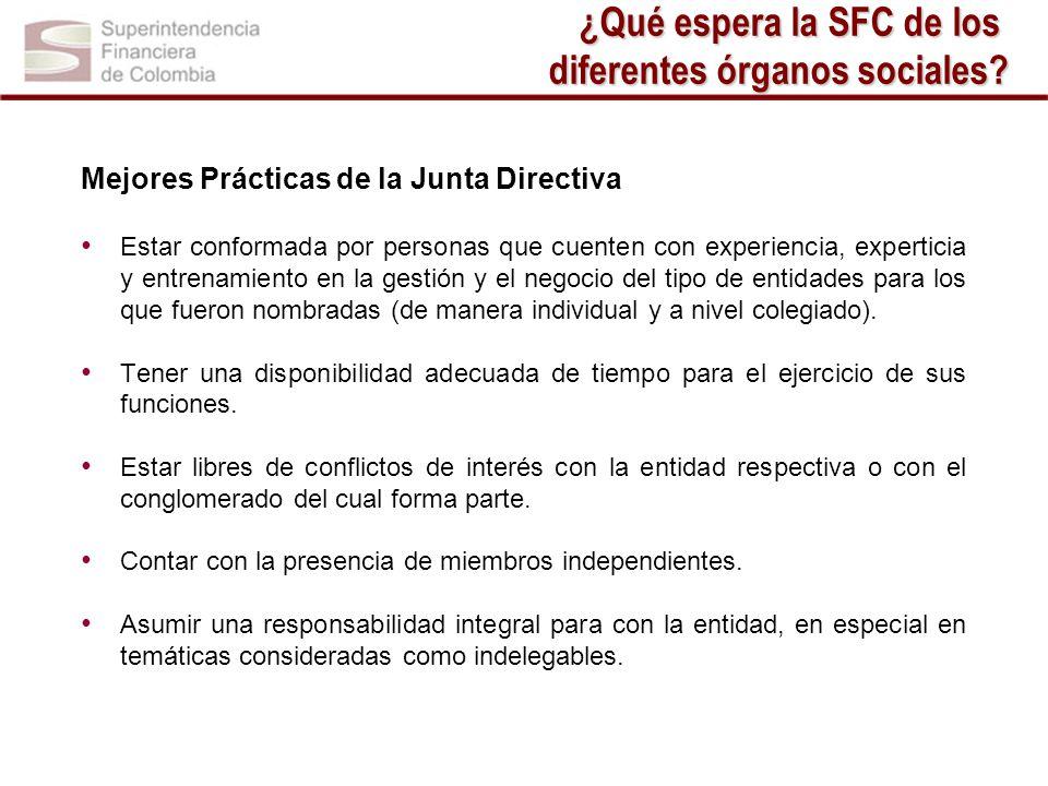 Mejores Prácticas de la Junta Directiva Estar conformada por personas que cuenten con experiencia, experticia y entrenamiento en la gestión y el negoc