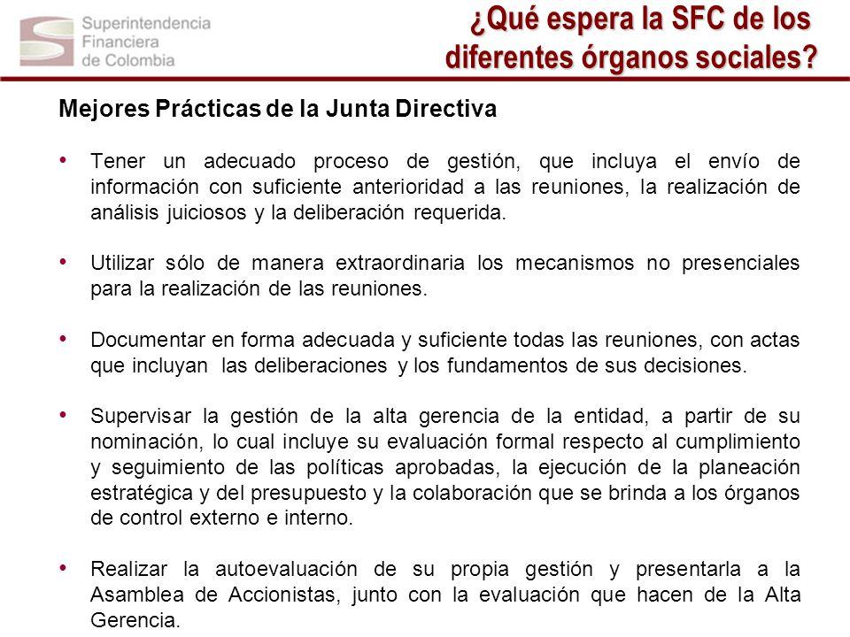 Mejores Prácticas de la Junta Directiva Tener un adecuado proceso de gestión, que incluya el envío de información con suficiente anterioridad a las re