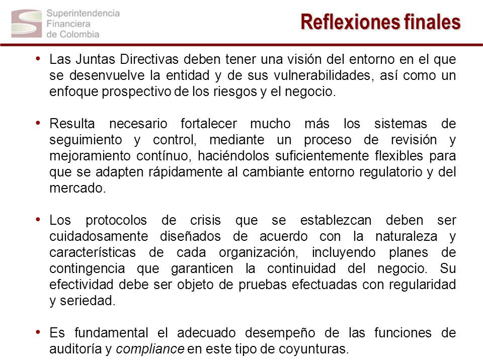 Las Juntas Directivas deben tener una visión del entorno en el que se desenvuelve la entidad y de sus vulnerabilidades, así como un enfoque prospectivo de los riesgos y el negocio.
