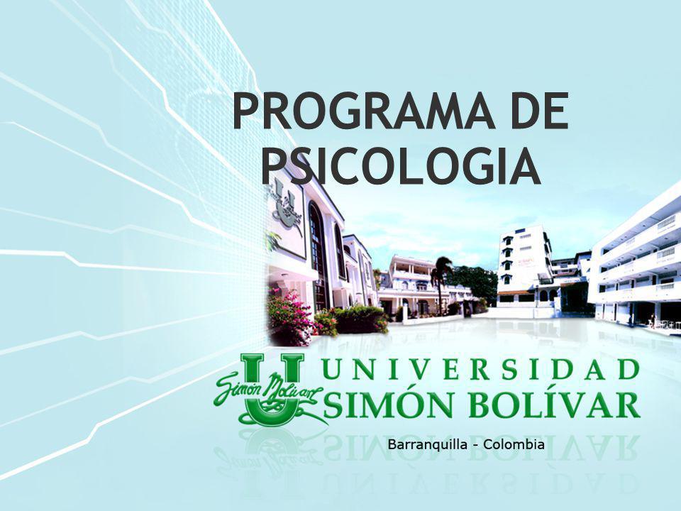 PROGRAMA DE PSICOLOGÍA La Universidad Simón Bolívar obtuvo su personería jurídica el 15 de noviembre de 1972 mediante Resolución 1318 emanada de la Gobernación de Departamento del Atlántico.