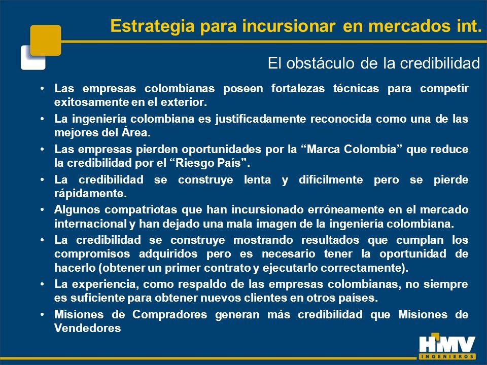 Las empresas colombianas poseen fortalezas técnicas para competir exitosamente en el exterior.