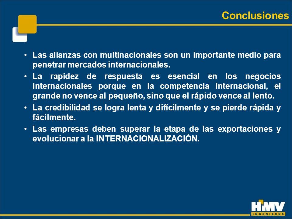 Las alianzas con multinacionales son un importante medio para penetrar mercados internacionales.