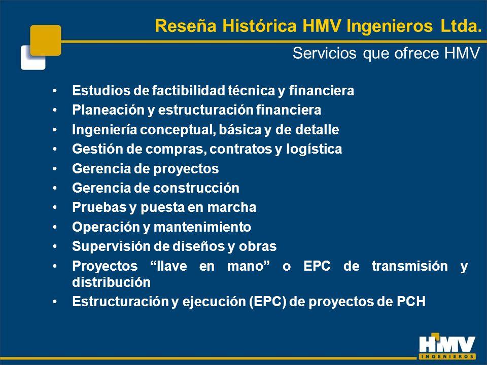 Actualmente HMV Ingenieros Ltda.