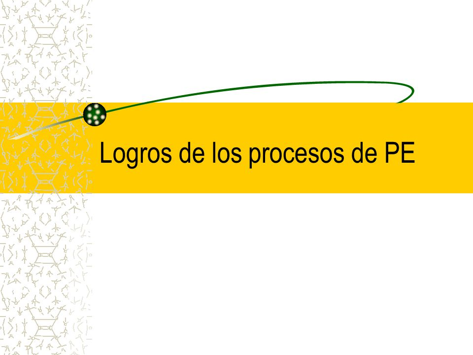 Logros de los procesos de PE