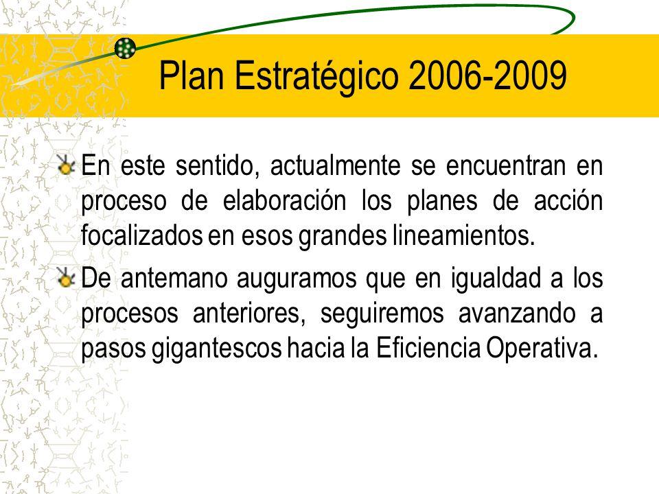 En este sentido, actualmente se encuentran en proceso de elaboración los planes de acción focalizados en esos grandes lineamientos.