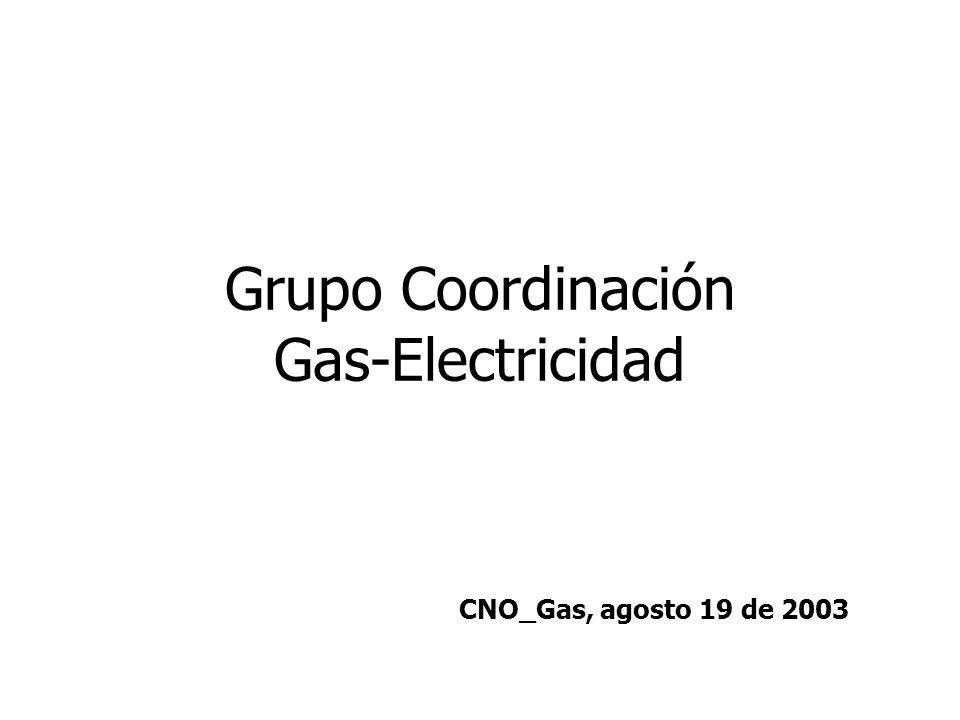 Grupo Coordinación Gas-Electricidad CNO_Gas, agosto 19 de 2003