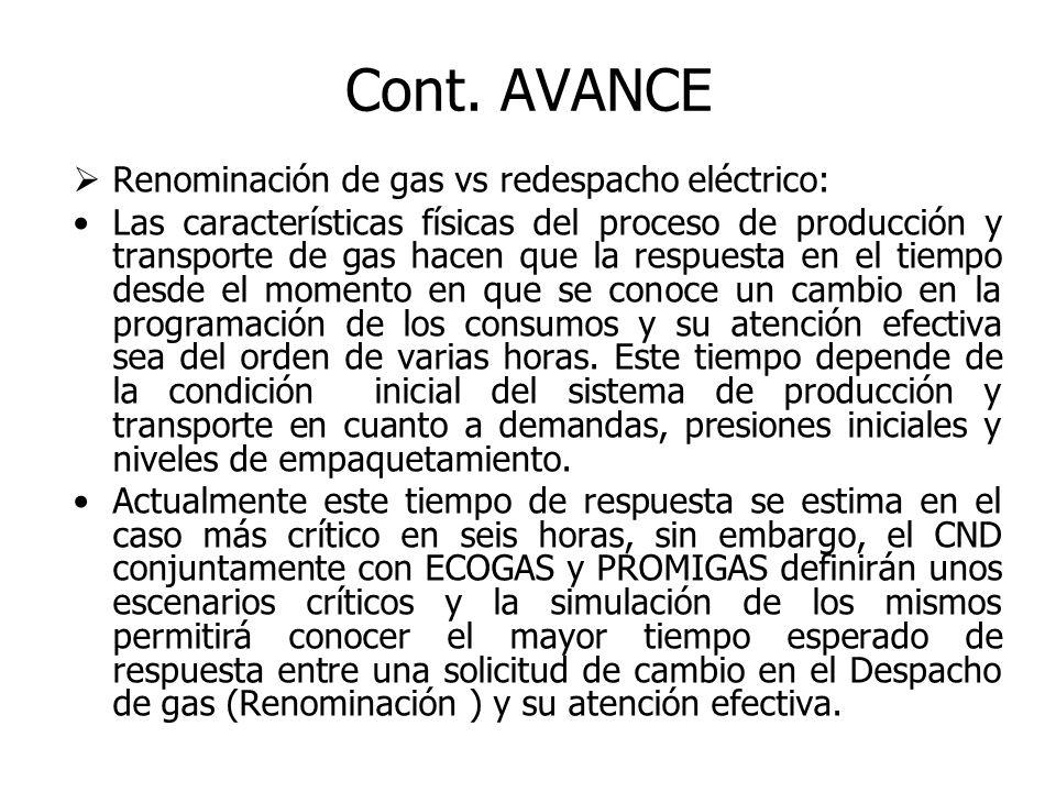 De otro lado se encontró que el Acuerdo 99 del CNO Eléctrico resolvió la dificultad operativa que se presentaba como consecuencia de la respuesta en el tiempo del sistema de producción y transporte de gas para la entrega a los generadores.