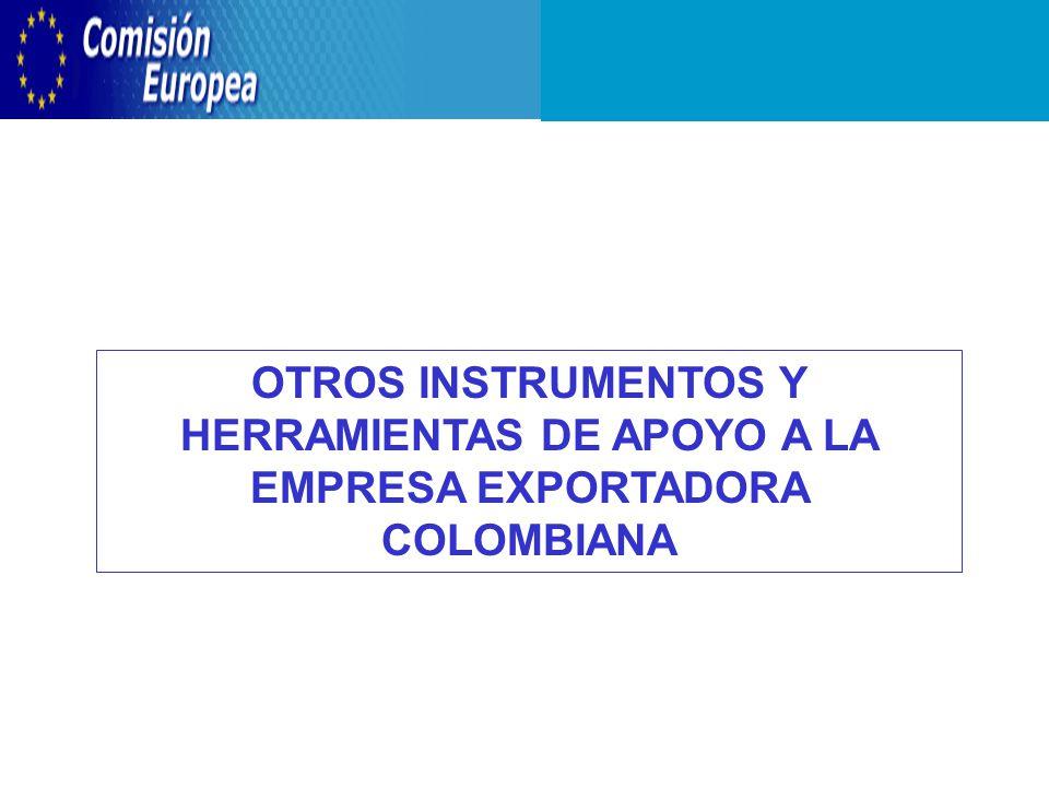 OTROS INSTRUMENTOS Y HERRAMIENTAS DE APOYO A LA EMPRESA EXPORTADORA COLOMBIANA