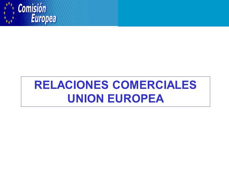 RELACIONES COMERCIALES UNION EUROPEA