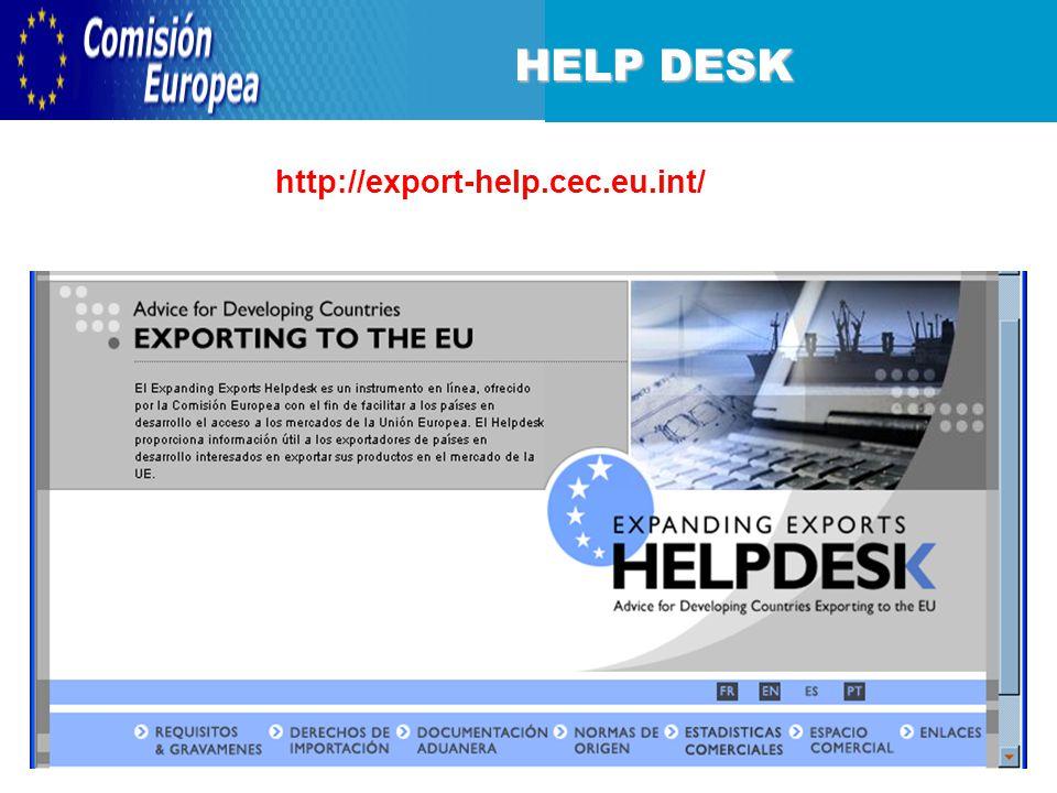 HELP DESK http://export-help.cec.eu.int/
