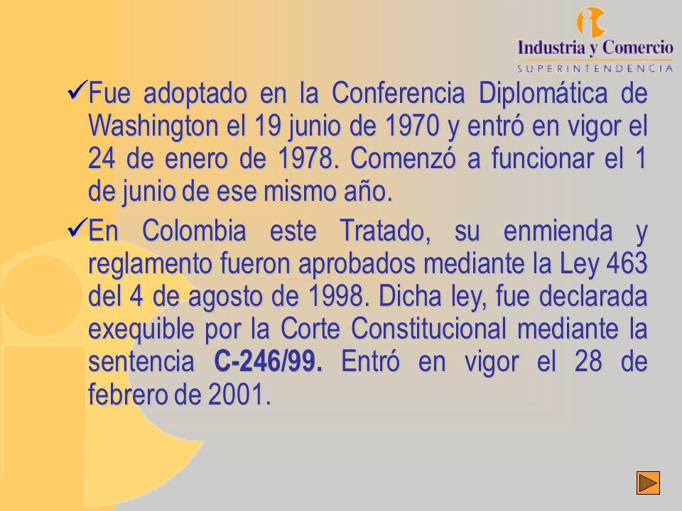 Fue adoptado en la Conferencia Diplomática de Washington el 19 junio de 1970 y entró en vigor el 24 de enero de 1978.