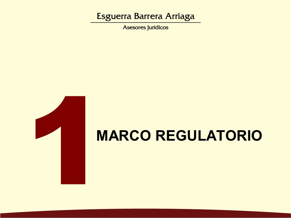 MARCO REGULATORIO 1