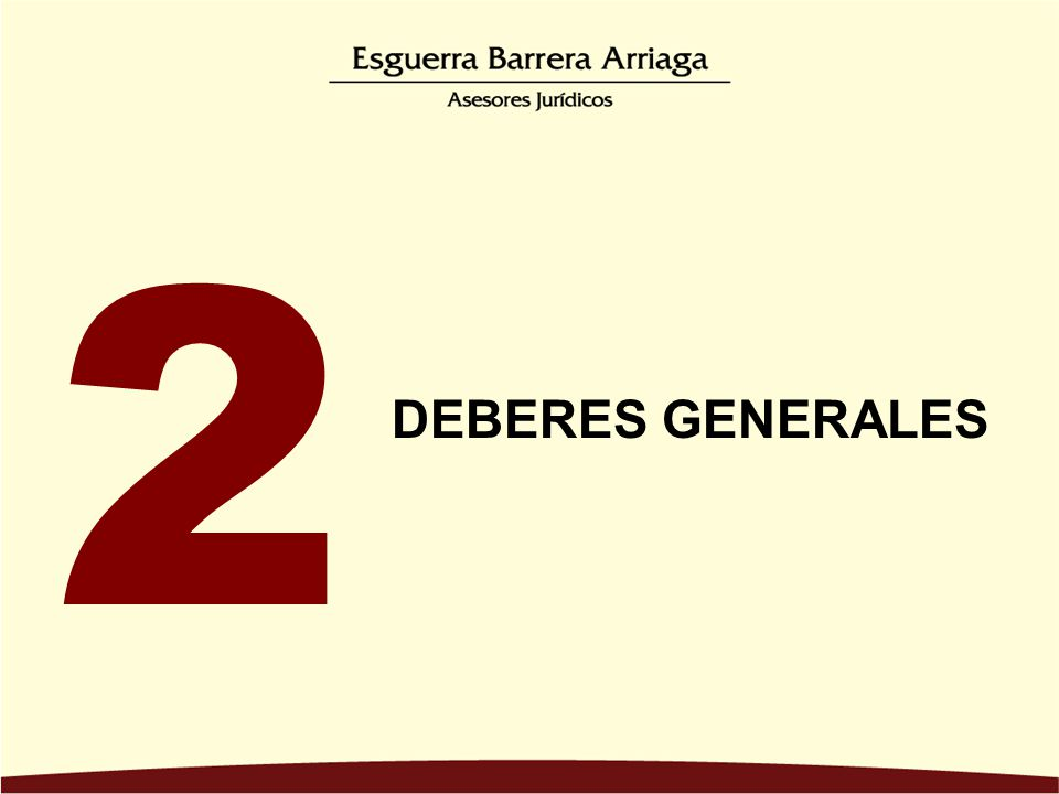 DEBERES GENERALES 2
