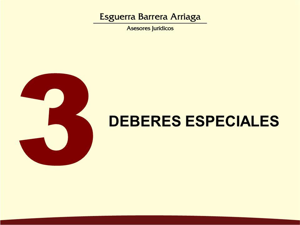 DEBERES ESPECIALES 3.3. DEBER DE DOCUMENTACIÓN 3