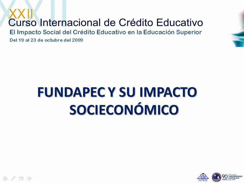 FUNDAPEC Y SU IMPACTO SOCIECONÓMICO