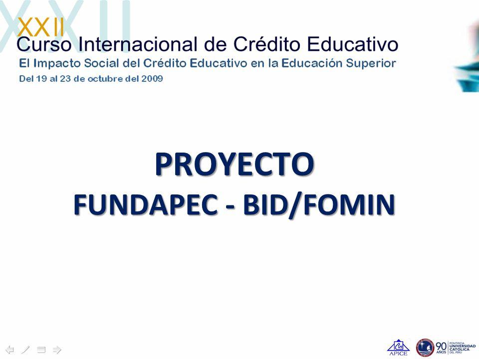 PROYECTO FUNDAPEC - BID/FOMIN