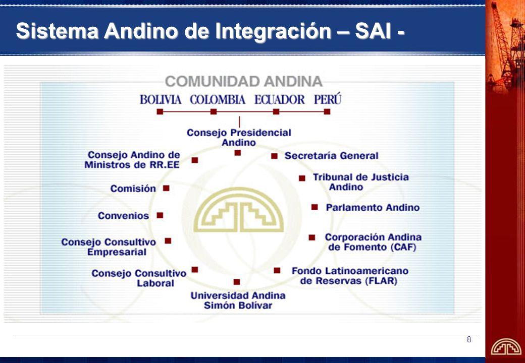 8 Sistema Andino de Integración – SAI -