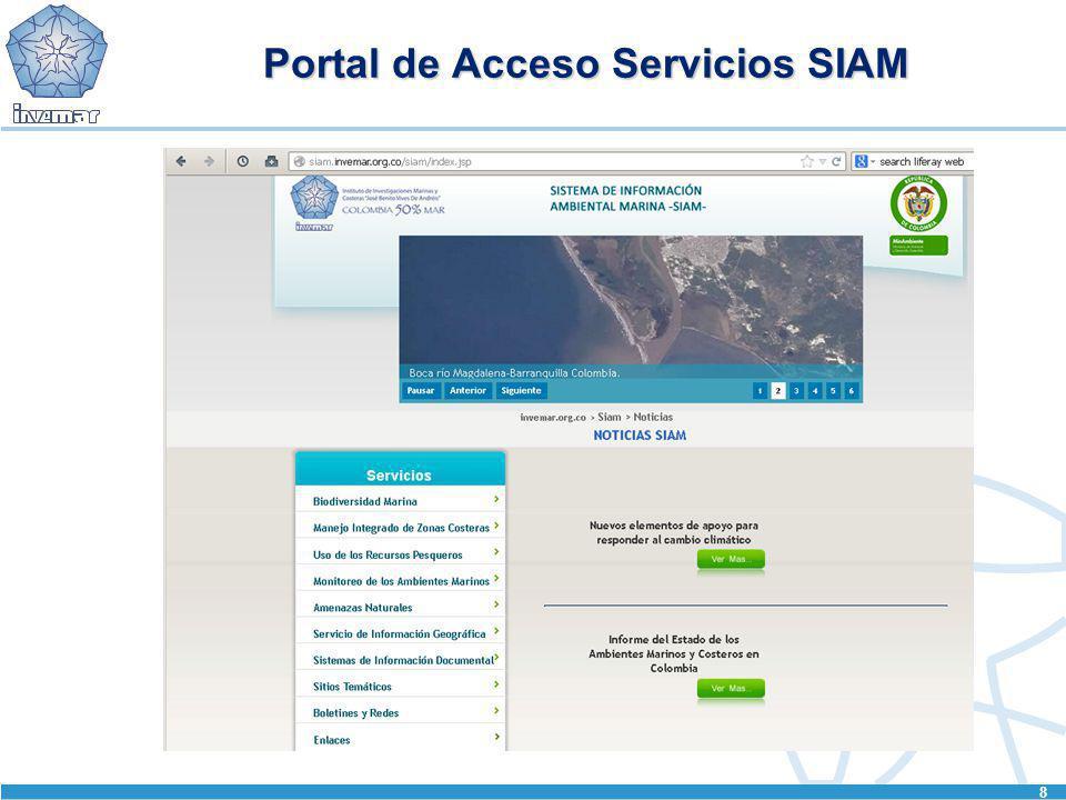 Portal de Acceso Servicios SIAM 8