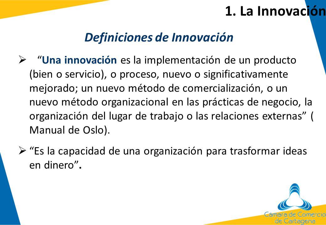 Una innovación es la implementación de un producto (bien o servicio), o proceso, nuevo o significativamente mejorado; un nuevo método de comercializac