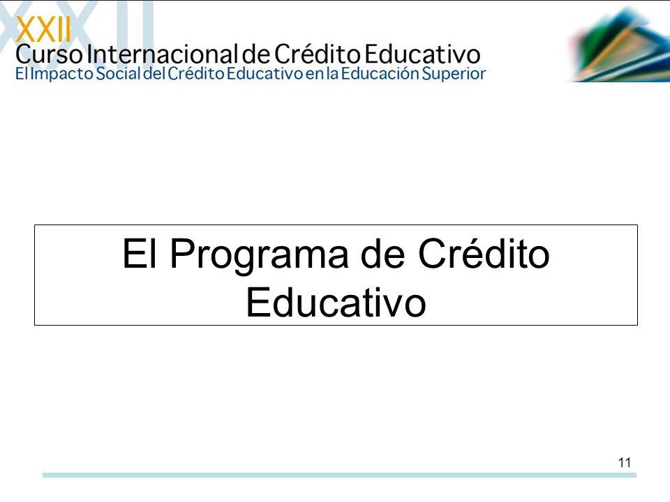 11 El Programa de Crédito Educativo