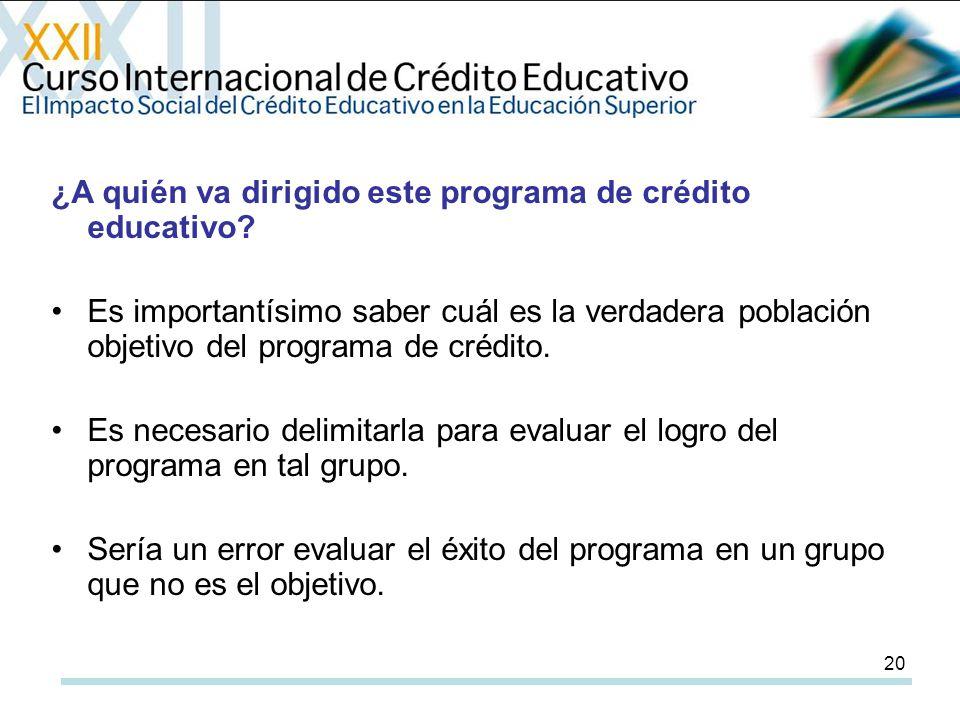 20 ¿A quién va dirigido este programa de crédito educativo.