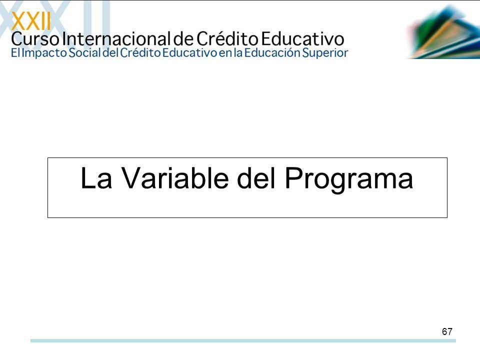 67 La Variable del Programa
