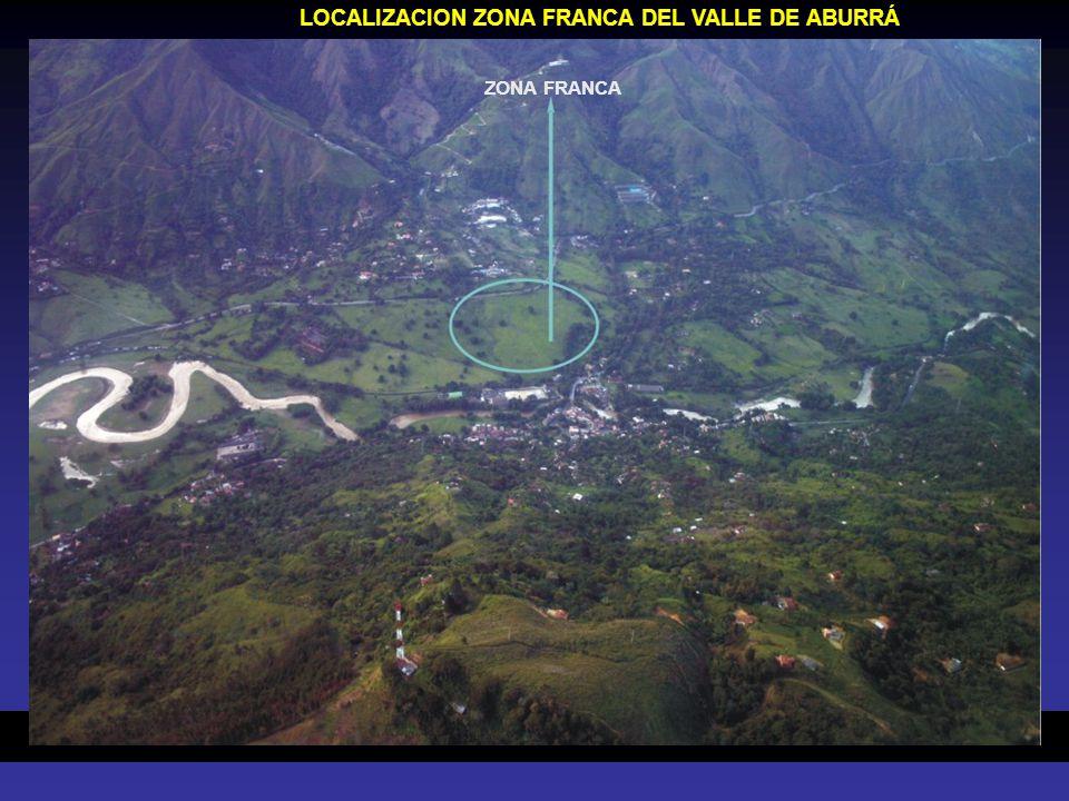 LOCALIZACION ZONA FRANCA DEL VALLE DE ABURRÁ ZONA FRANCA