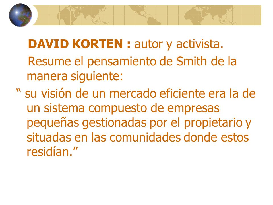 DAVID KORTEN : autor y activista.