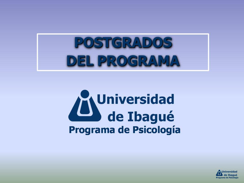 POSTGRADOS DEL PROGRAMA POSTGRADOS