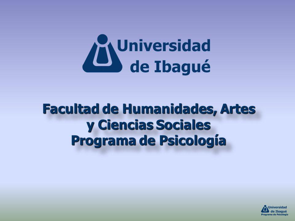 Facultad de Humanidades, Artes y Ciencias Sociales Programa de Psicología Facultad de Humanidades, Artes y Ciencias Sociales Programa de Psicología