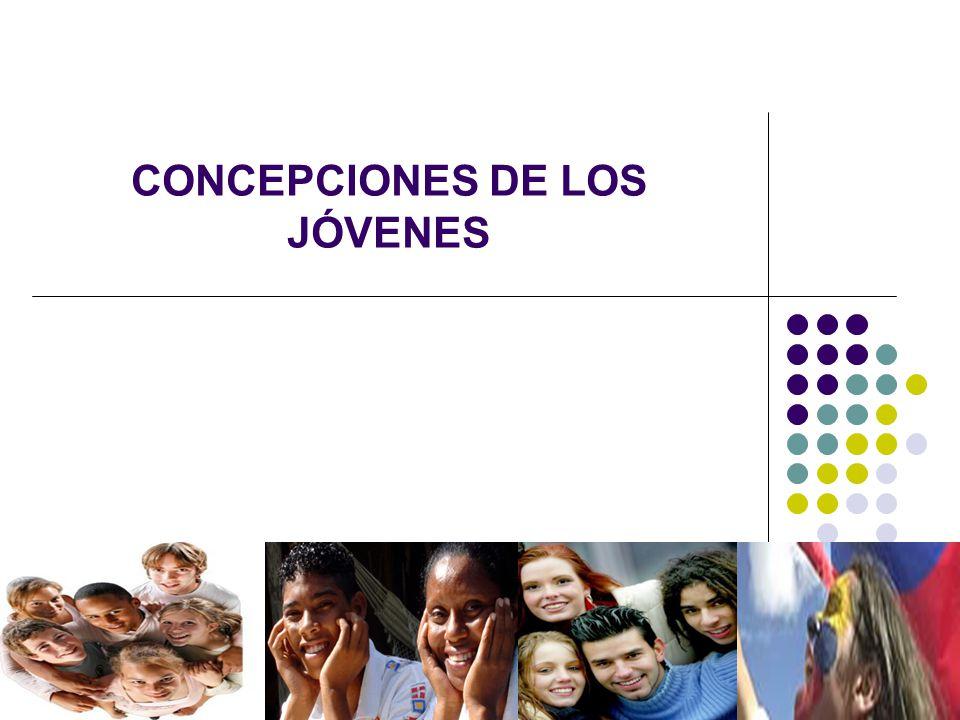 CONCPECIONES DE LOS JÓVENES 1.Desadaptados o delincuentes.