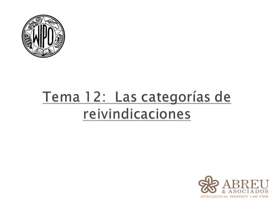 Tema 12: Las categorías de reivindicaciones