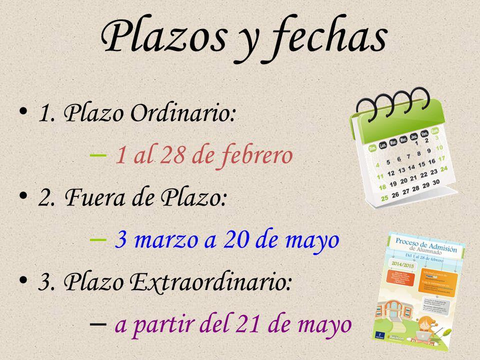 Plazos y fechas 1.Plazo Ordinario: – 1 al 28 de febrero 2.