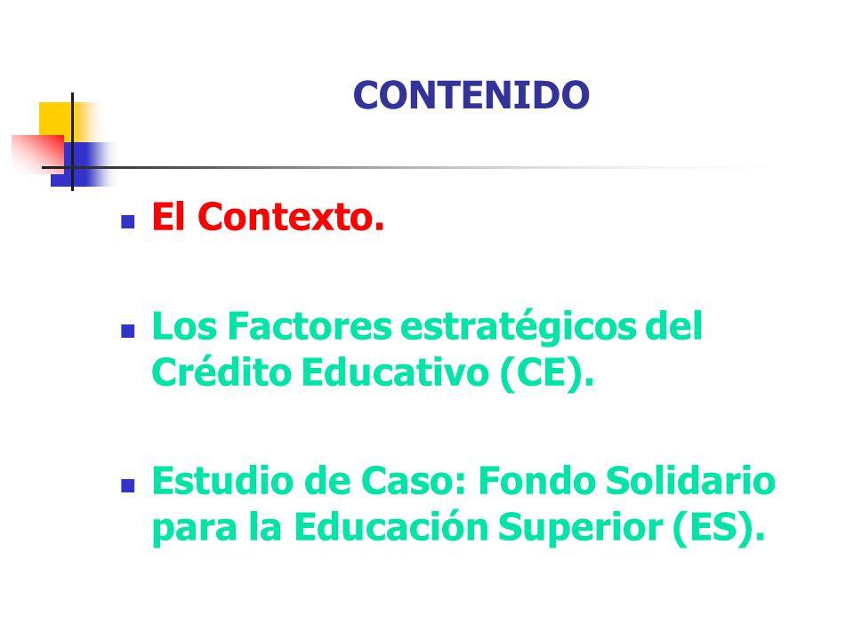 EL CONTEXTO: los factores estratégicos del CE Recordemos los factores estratégicos del CE 1.