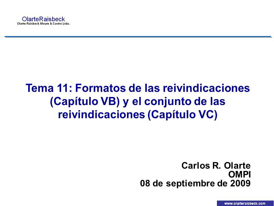 Carlos R. Olarte OMPI 08 de septiembre de 2009