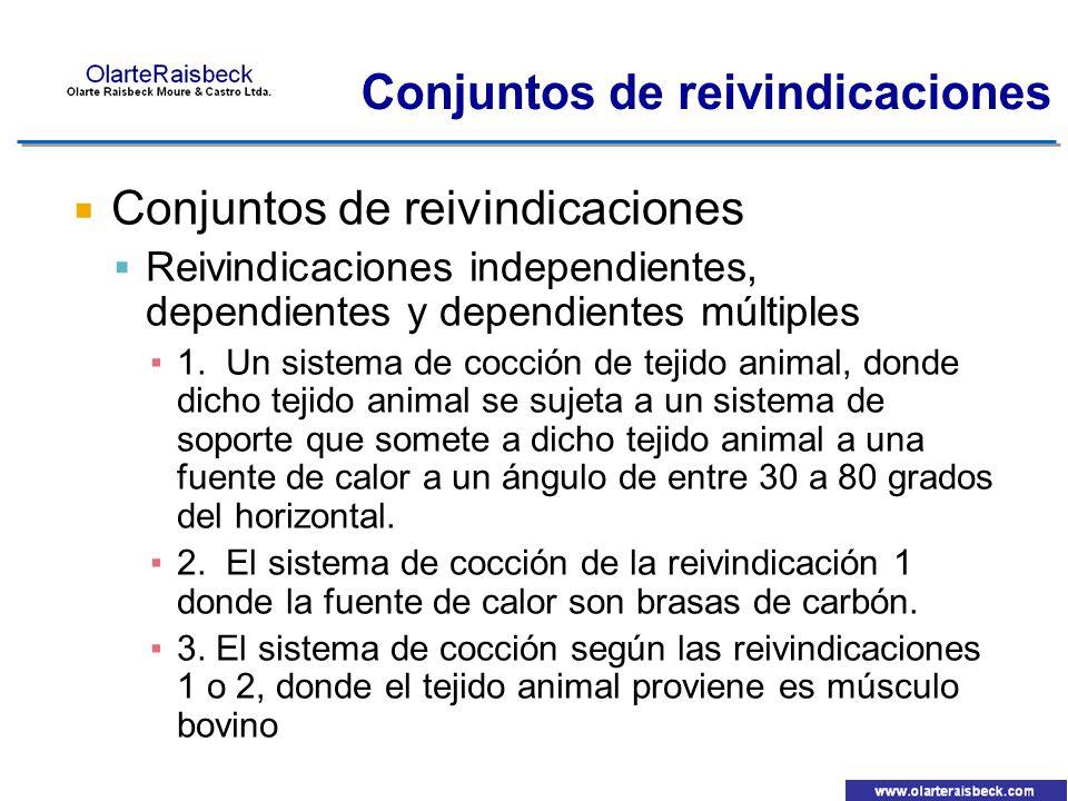 Conjuntos de reivindicaciones Reivindicaciones independientes, dependientes y dependientes múltiples 1. Un sistema de cocción de tejido animal, donde
