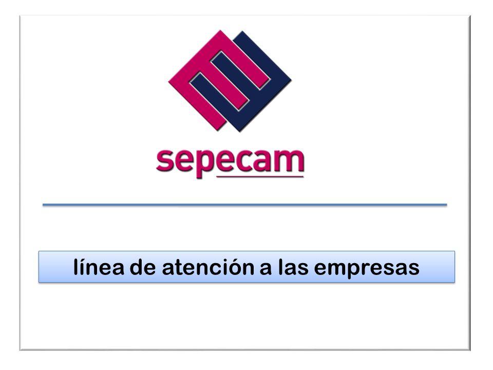 El Sepecam, un aliado para las empresas El SEPECAM se abre al mundo de la empresa, detectando sus necesidades; respondiendo con una capacidad gestora renovada, ágil, fiable, personalizada, coordinada, gratuita y que responda a los compromisos contraídos con los/as empleadores/as.