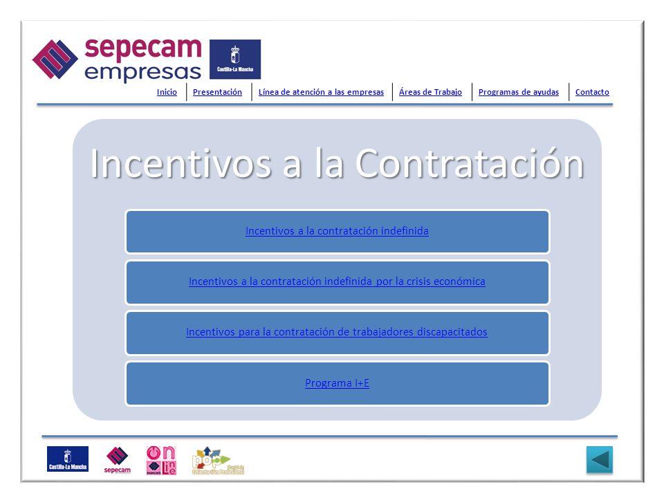 Incentivos a la Contratación Incentivos a la contratación indefinidaIncentivos a la contratación indefinida por la crisis económicaIncentivos para la