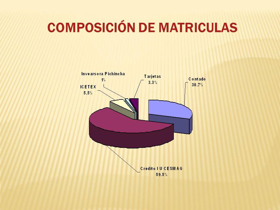 COMPOSICIÓN DE MATRICULAS