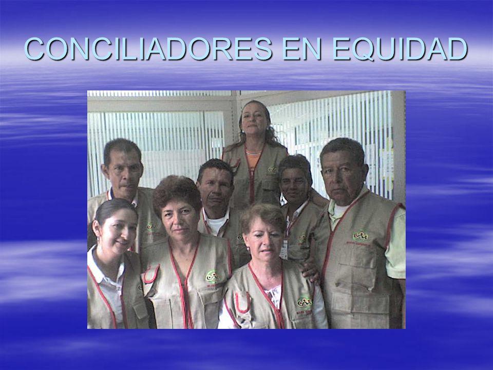 La Conciliación en Equidad La CCV ayudo a formar 62 Conciliadores en Equidad en el año 2005. La CCV ayudo a formar 62 Conciliadores en Equidad en el a