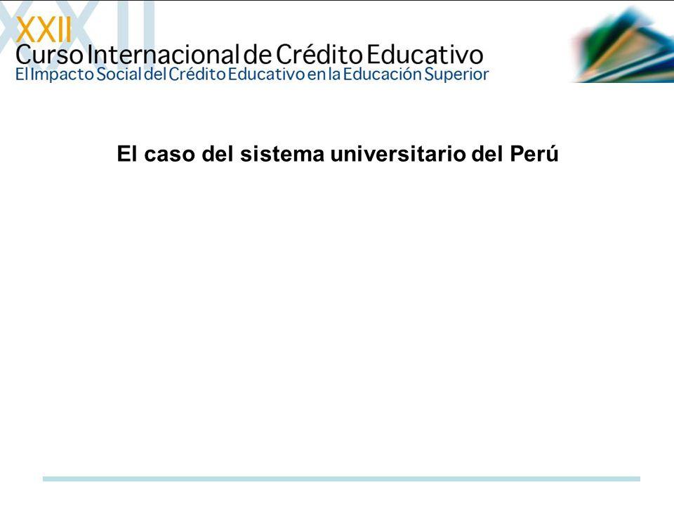 El caso del sistema universitario del Perú