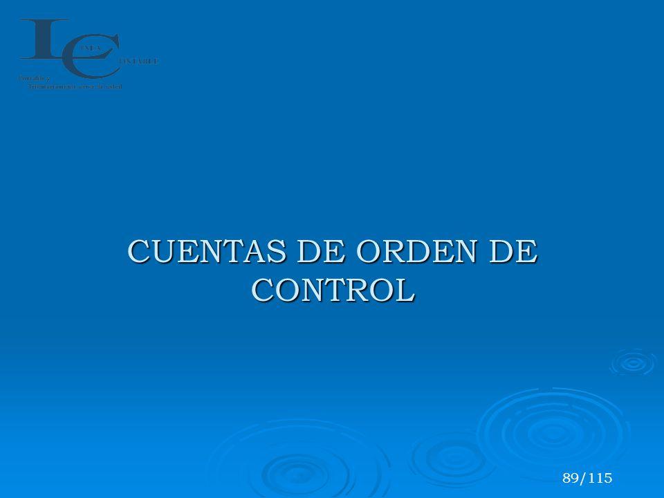 CUENTAS DE ORDEN DE CONTROL 89/115