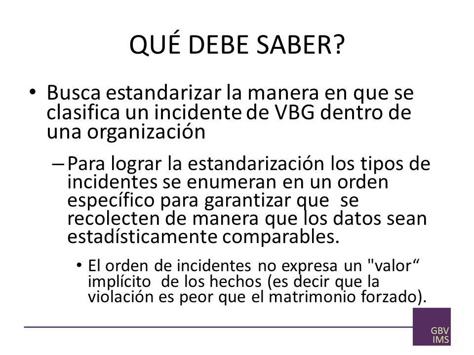 Determinación del tipo de violencia de género utilizando la herramienta de clasificación Hágase las preguntas siguientes en el orden en que aparecen.