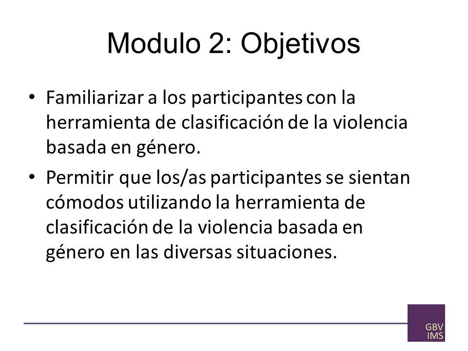 Sistema de Gestión de Datos sobre Violencia Basda en Género Módulo 2: Herramienta de Clasificación