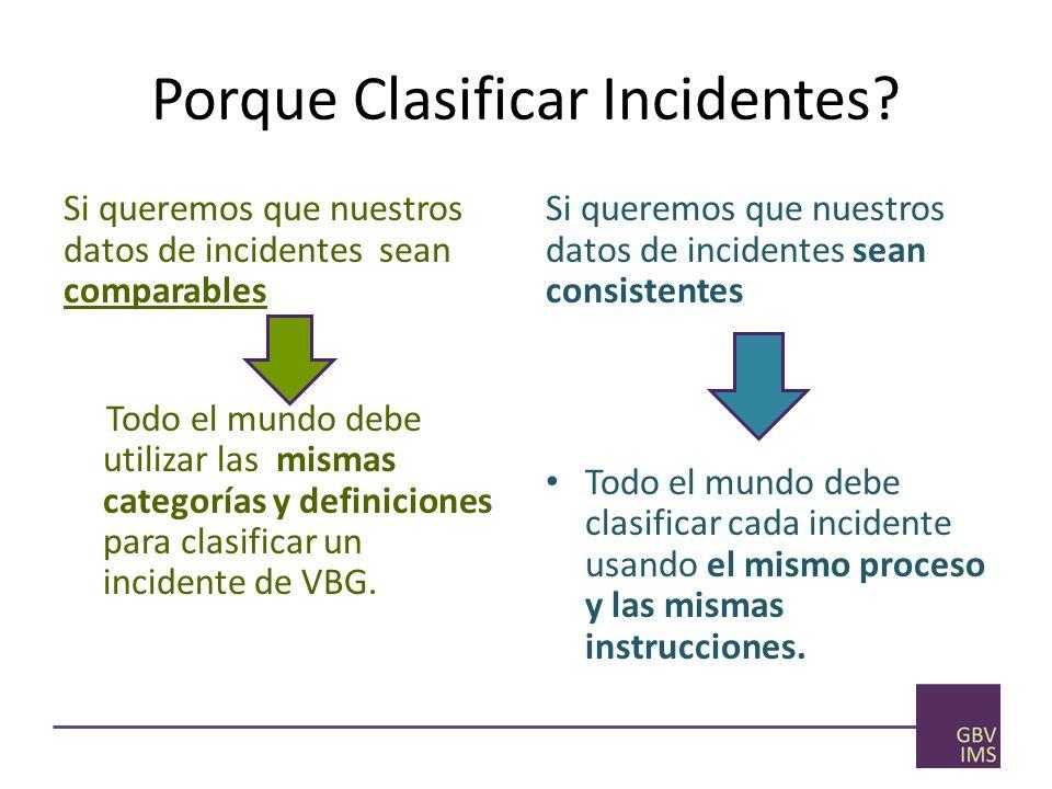 Porque Clasificar Incidentes.