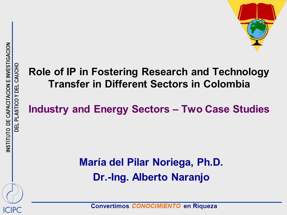 INSTITUTO DE CAPACITACION E INVESTIGACION DEL PLASTICO Y DEL CAUCHO Convertimos CONOCIMIENTO en Riqueza Role of IP in Fostering Research and Technolog