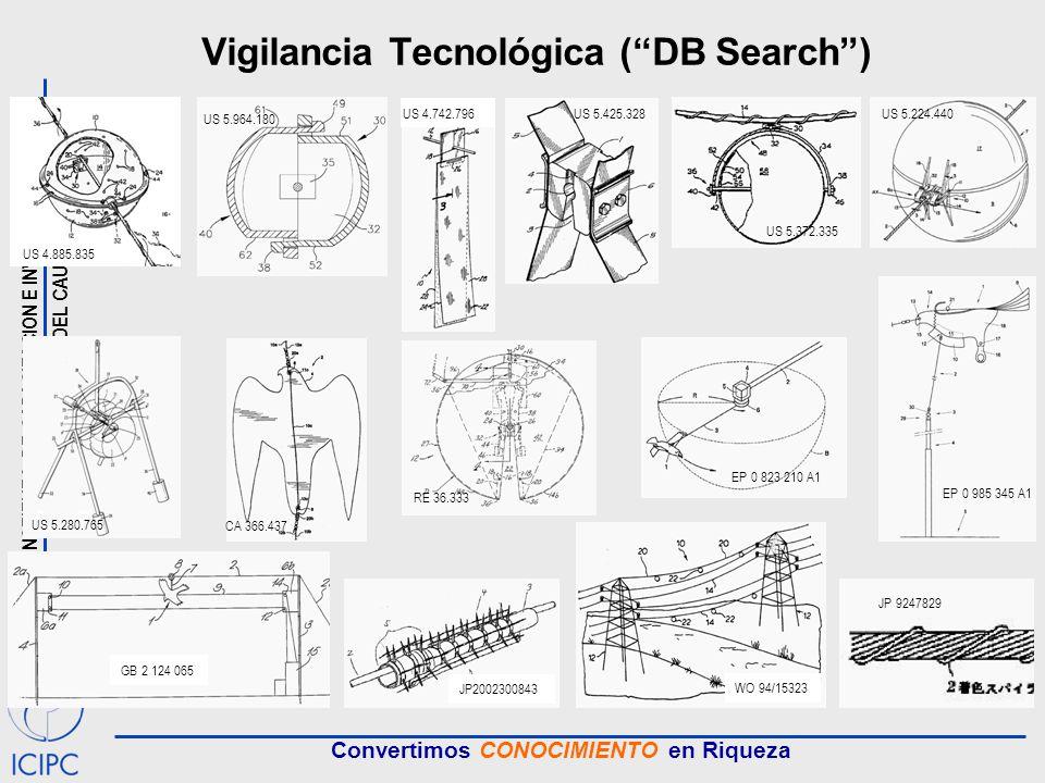 INSTITUTO DE CAPACITACION E INVESTIGACION DEL PLASTICO Y DEL CAUCHO Convertimos CONOCIMIENTO en Riqueza Vigilancia Tecnológica (DB Search) US 4.885.83