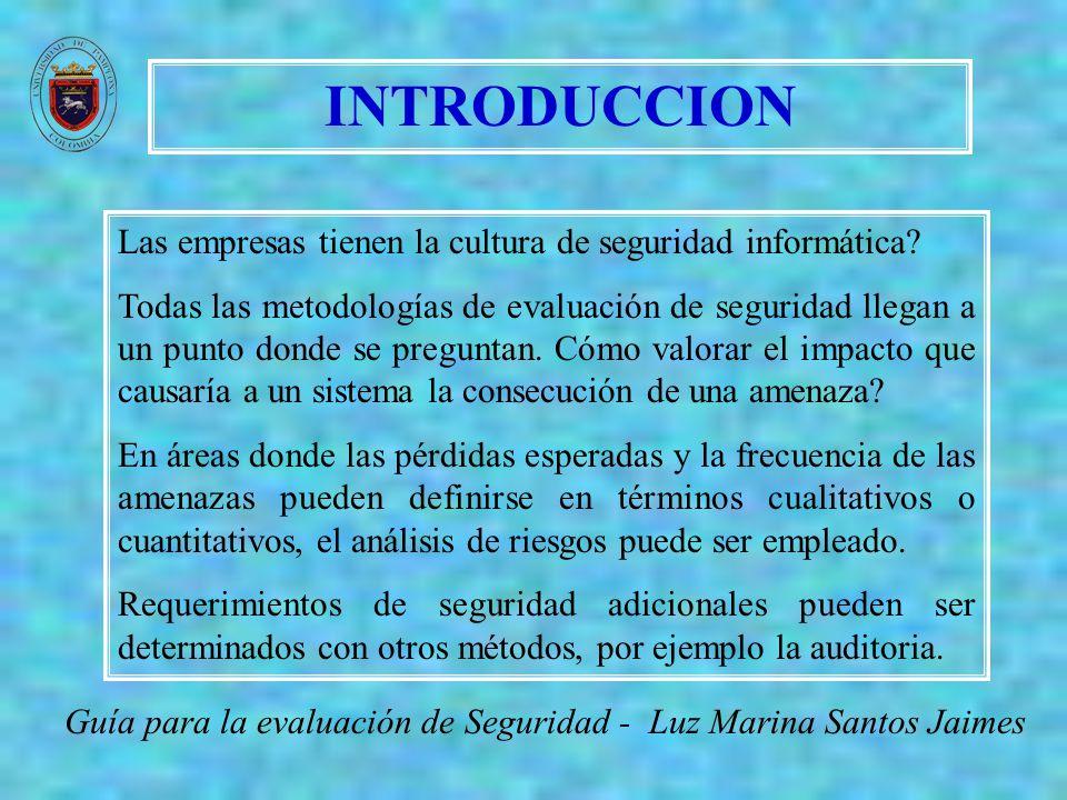 AUDIT Guía para la evaluación de Seguridad - Luz Marina Santos Jaimes La auditoria examina si el sistema esta cumpliendo con los controles y políticas de seguridad que previamente se definieron.