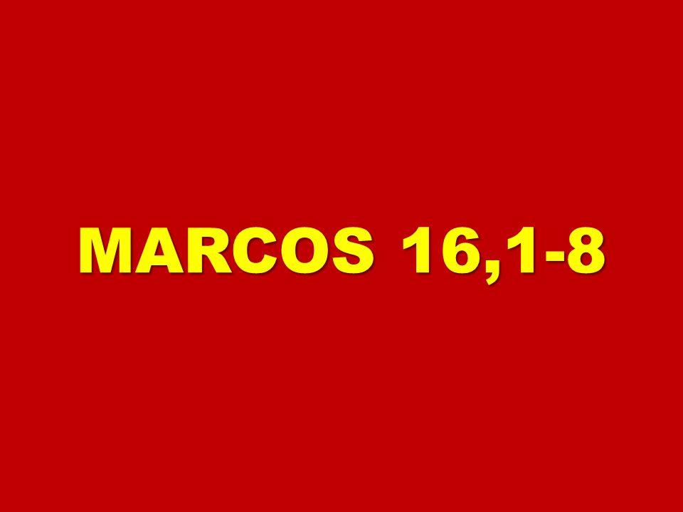 1 Pasado el sábado, 1 Pasado el sábado, María Magdalena, María Magdalena, María la de Santiago y Salomé María la de Santiago y Salomé compraron aromas para ir a embalsamarle.